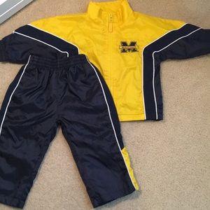 Set! Size 12months. GO BLUE! Michigan